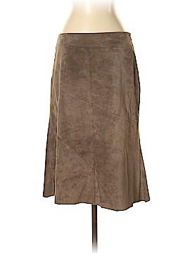 Ecru Leather Skirt Size 4