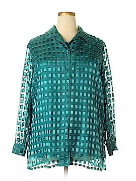 Allison Daley Long Sleeve Blouse Size 2X (Plus)