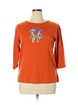 Bob Mackie 3/4 Sleeve T-Shirt Size L