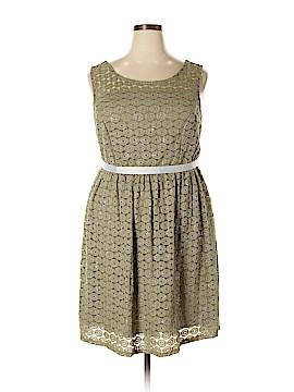 Yellow Star Casual Dress Size 2X (Plus)