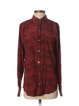 C. Wonder Long Sleeve Silk Top Size M