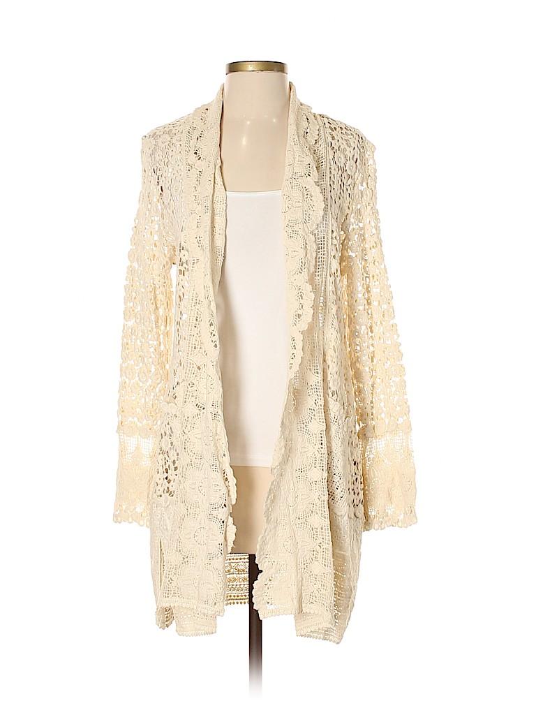 bf002507fbc Cupio 100% Cotton Lace Beige Cardigan Size M - 72% off