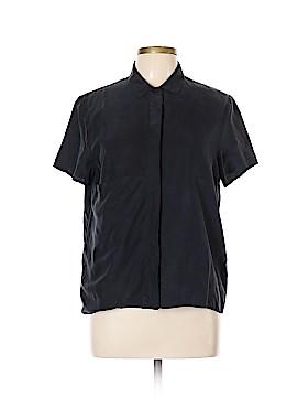 Kate Spade Saturday Short Sleeve Silk Top Size L