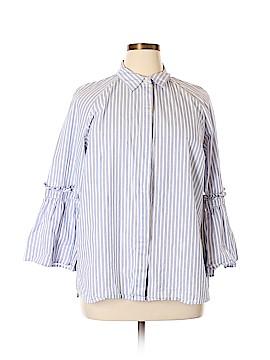 Max Jeans Long Sleeve Button-Down Shirt Size 1X (Plus)