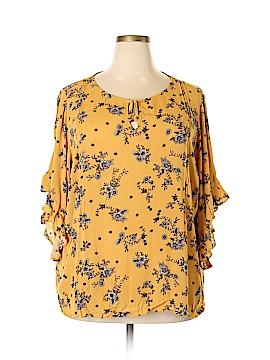 LC Lauren Conrad 3/4 Sleeve Blouse Size 3X (Plus)