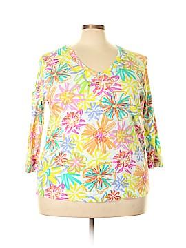 Fresh Produce 3/4 Sleeve T-Shirt Size 2X (Plus)