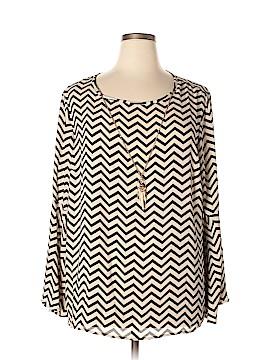 Tacera Long Sleeve Blouse Size 2X (Plus)