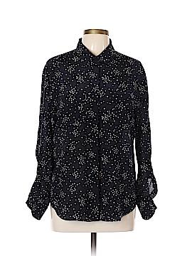 Ann Taylor Long Sleeve Silk Top Size L
