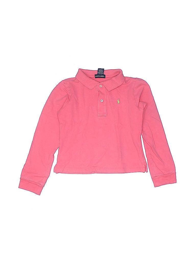 Ralph Lauren Girls Long Sleeve Polo Size L (Kids)