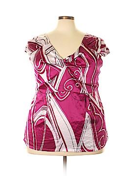 MKM Designs Short Sleeve Blouse Size 3X (Plus)