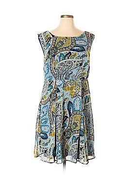 Yellow Star Casual Dress Size 1X (Plus)