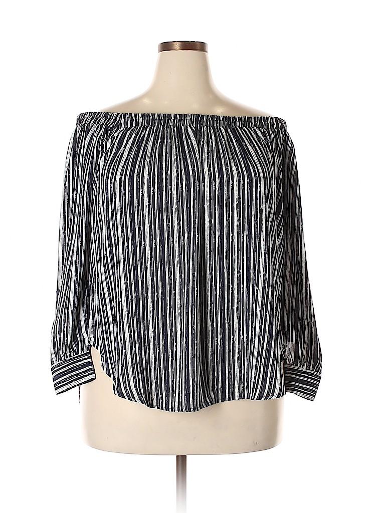 American Rag Cie Women 3/4 Sleeve Blouse Size 1X (Plus)