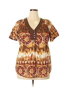 Kim Rogers Short Sleeve Blouse Size 1X (Plus)