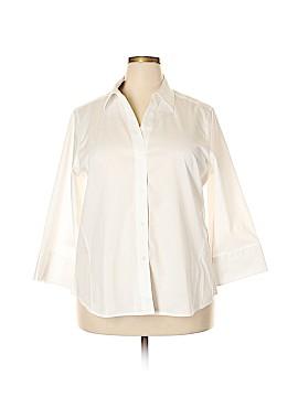 Foxcroft Long Sleeve Button-Down Shirt Size XXL