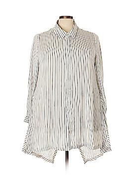 Midnight Velvet Long Sleeve Blouse Size 2X (Plus)