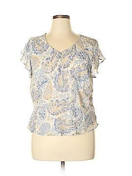 Jaclyn Smith Short Sleeve Blouse Size 16