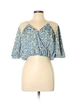 En Creme Short Sleeve Blouse Size L