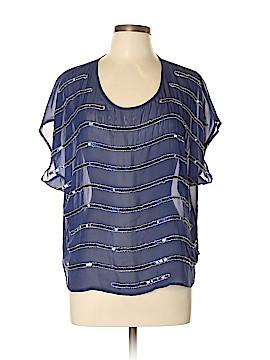 Bisou Bisou Short Sleeve Blouse Size XL