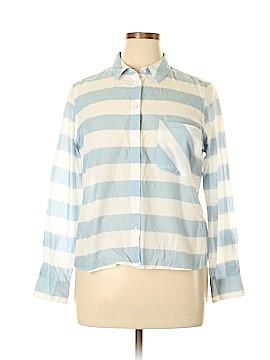 M&S Long Sleeve Button-Down Shirt Size 18 (UK)