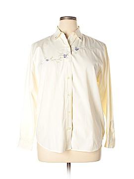 Classic Elements Long Sleeve Button-Down Shirt Size L