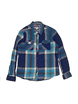Arizona Jean Company Long Sleeve Button-Down Shirt Size L (Youth)