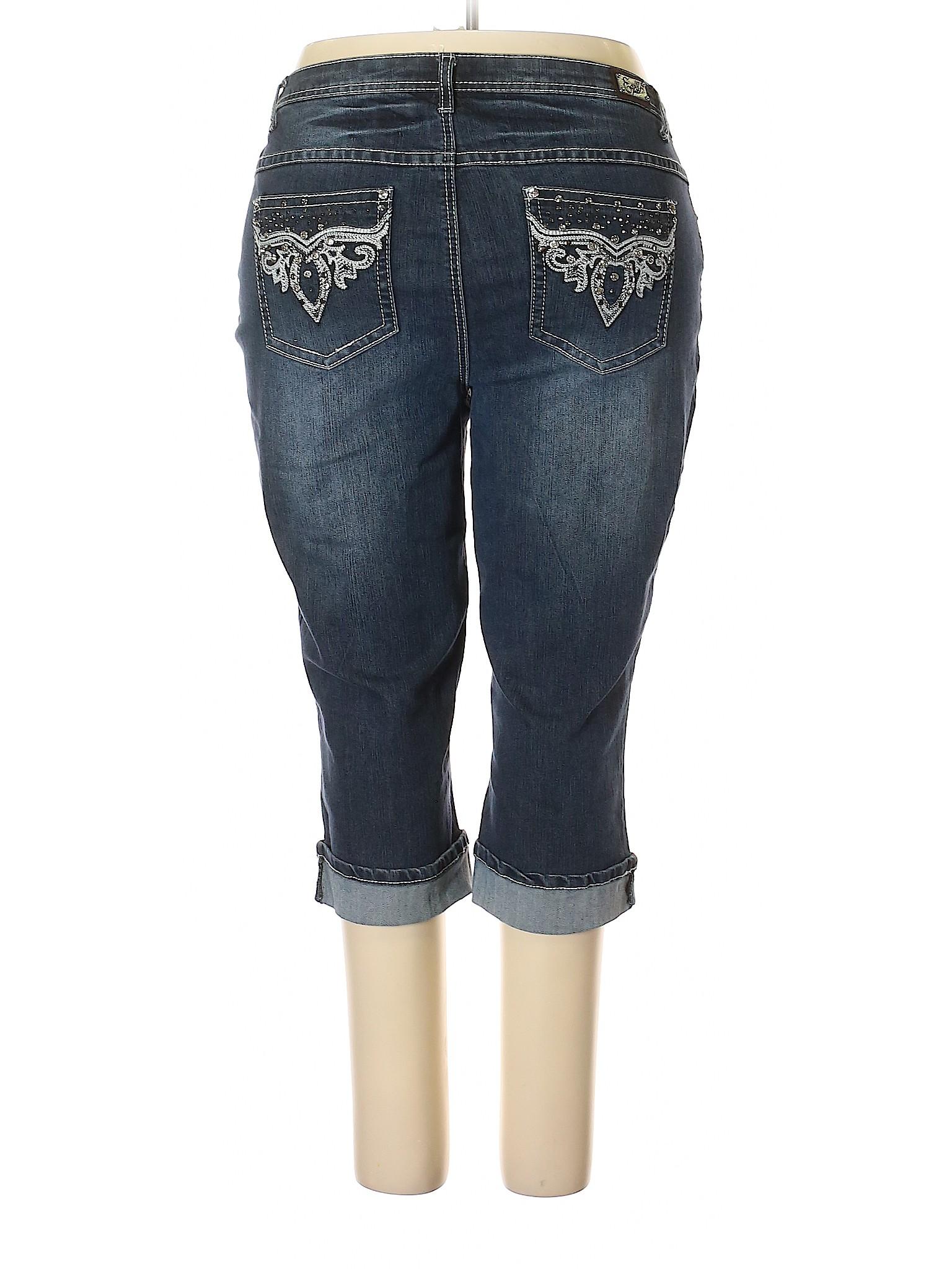 f1cd9709b90 Earl Jean Solid Navy Blue Jeans Size 20w (Plus) - 83% off