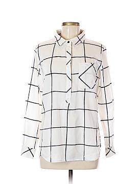 Athleta Long Sleeve Button-Down Shirt Size M