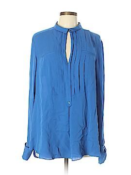Halston Heritage Long Sleeve Silk Top Size XL