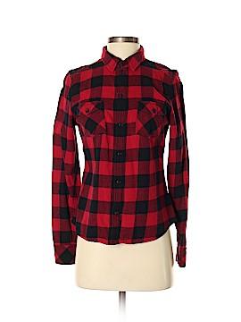 TNA Long Sleeve Button-Down Shirt Size S