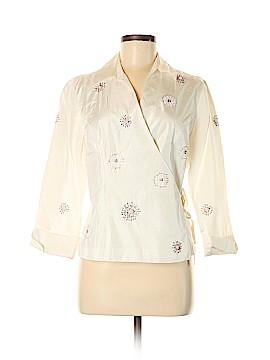 Carole Little 3/4 Sleeve Silk Top Size M