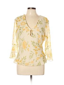Anne Carson Long Sleeve Silk Top Size L