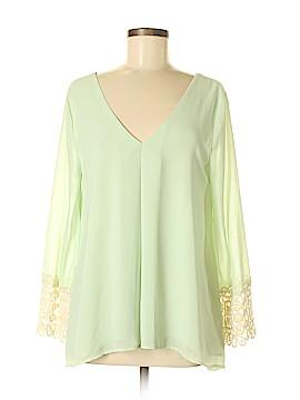 Blush Long Sleeve Blouse Size M