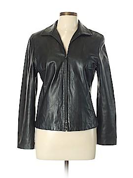 W by Worth Leather Jacket Size 10