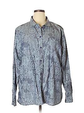 Life Is Good Long Sleeve Button-Down Shirt Size XXL