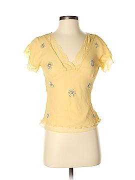 Carole Little Short Sleeve Silk Top Size 5