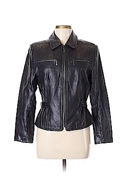 Valerie Stevens Leather Jacket Size 6 (Petite)
