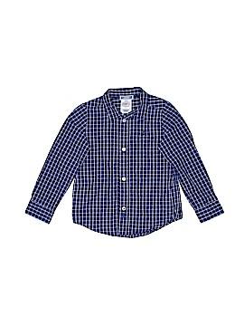Jacadi Long Sleeve Button-Down Shirt Size 3