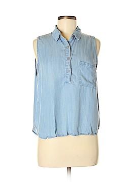 Paper Crane Sleeveless Button-Down Shirt Size L