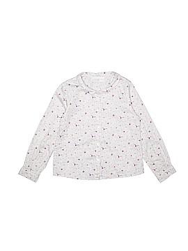 Petit Bateau Long Sleeve Button-Down Shirt Size 4 - 5