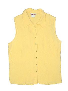 Faded Glory Sleeveless Button-Down Shirt Size 16 - 18