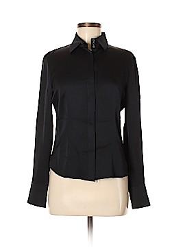 Armani Collezioni Long Sleeve Silk Top Size 42 (IT)