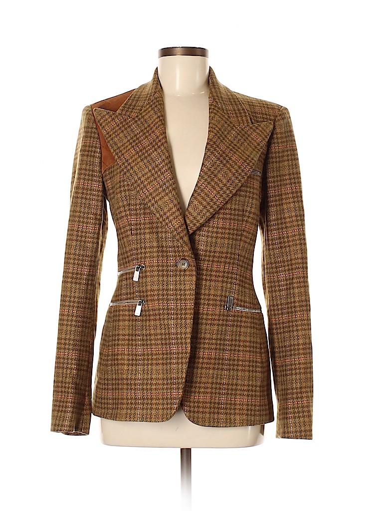 e35e44a158f1bf MICHAEL Michael Kors Houndstooth Tan Wool Blazer Size 6 - 85% off ...