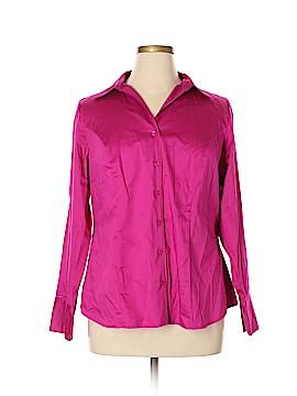 Lane Bryant Long Sleeve Button-Down Shirt Size 16 (Plus)