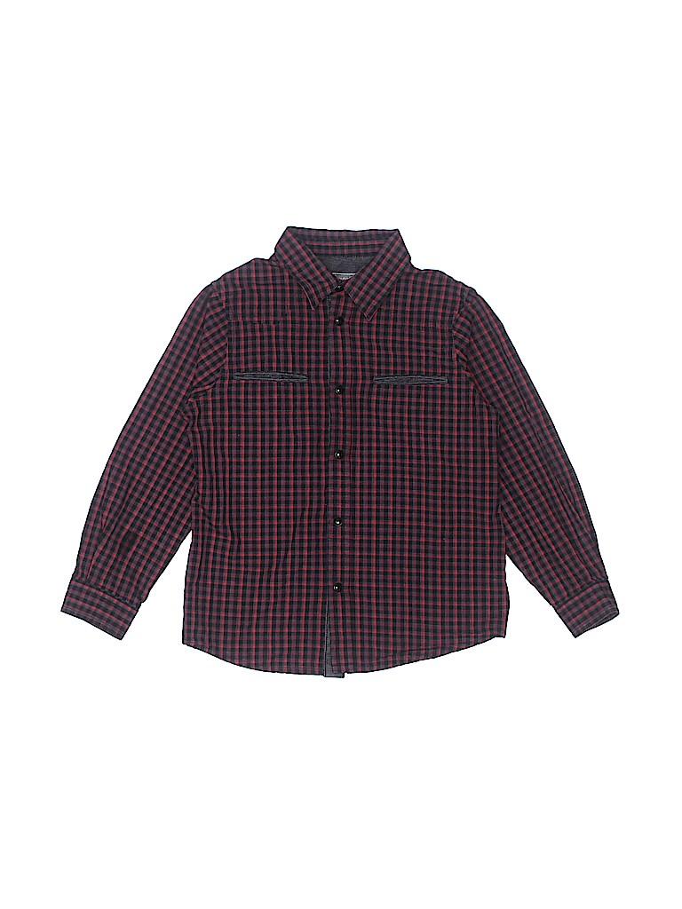 Bonpoint Boys Long Sleeve Button-Down Shirt Size 3