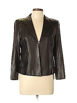 AKRIS for Bergdorf Goodman Leather Jacket Size 12