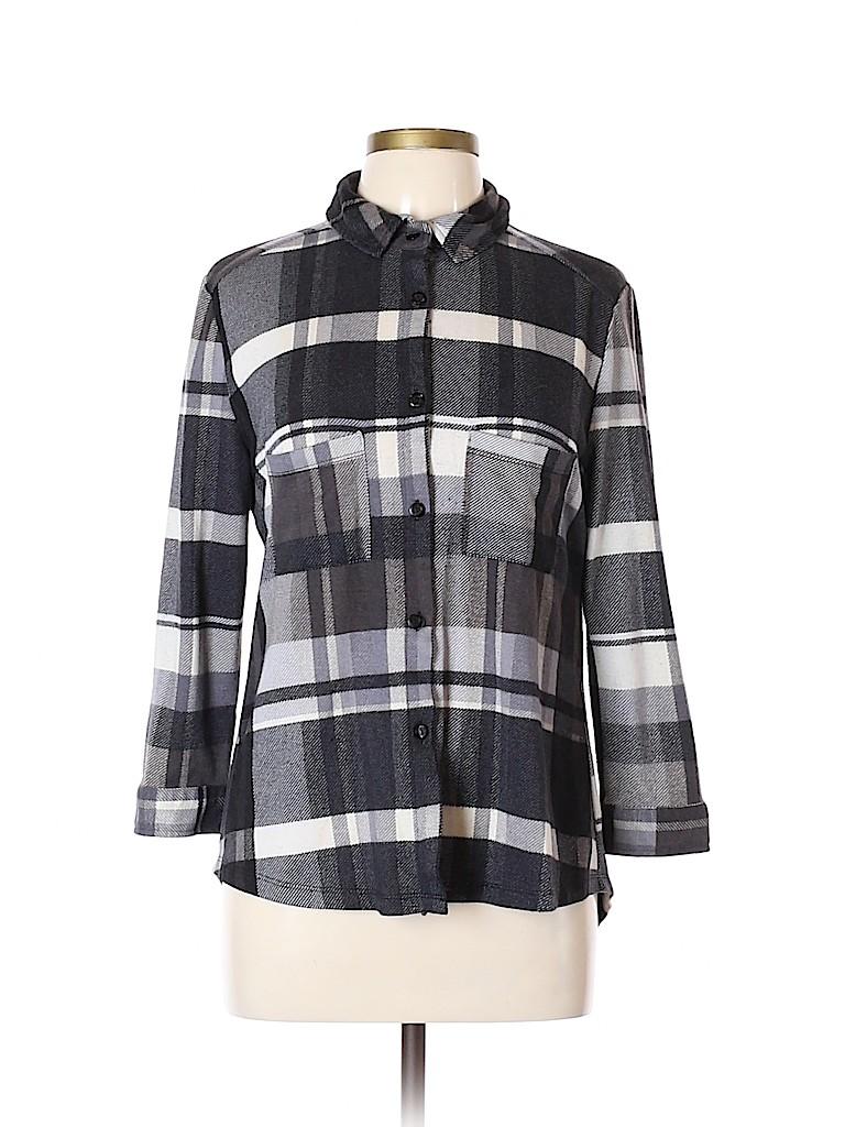 Polly & Esther Women Long Sleeve Button-Down Shirt Size XL