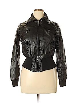 Miley Cyrus & Max Azria Faux Leather Jacket Size XL