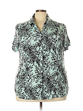 Jaclyn Smith Short Sleeve Silk Top Size 26w (Plus)