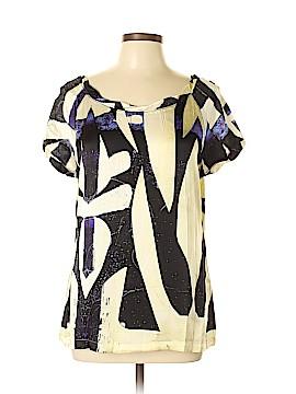 Roberto Cavalli Short Sleeve Silk Top Size 48 (IT)