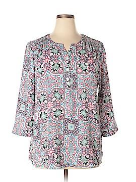 Van Heusen 3/4 Sleeve Blouse Size XL